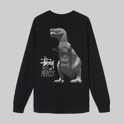 STUSSY BIG & MEATY LONG SLEEVE TEE BLACK
