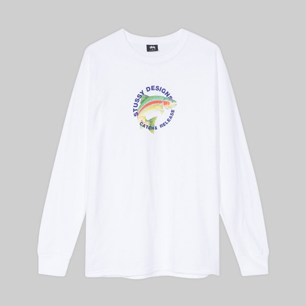 STUSSY CATCH & RELEASE SS T-SHIRT WHITE