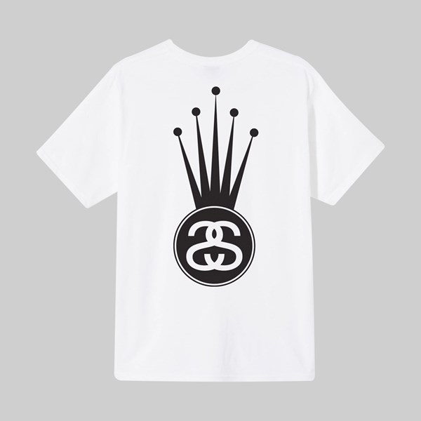 STUSSY CROWN LINK SS T-SHIRT WHITE