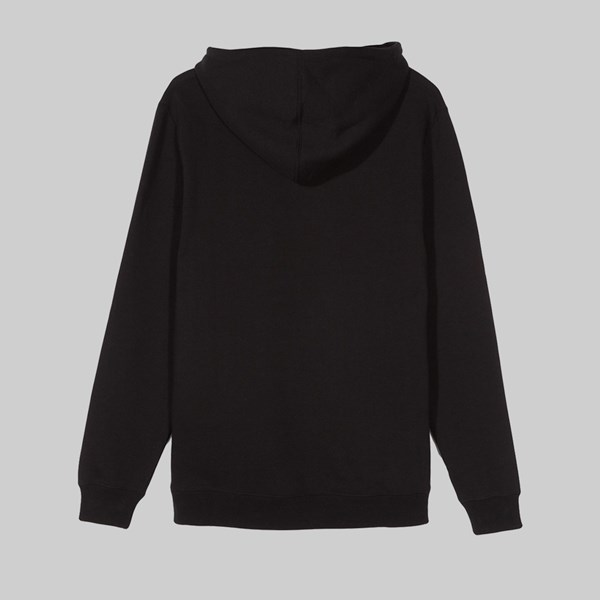 STUSSY DESIGN APPLIQUE HOOD BLACK