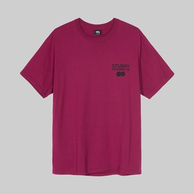 STUSSY DESIGNS 19 SS T-SHIRT WINE