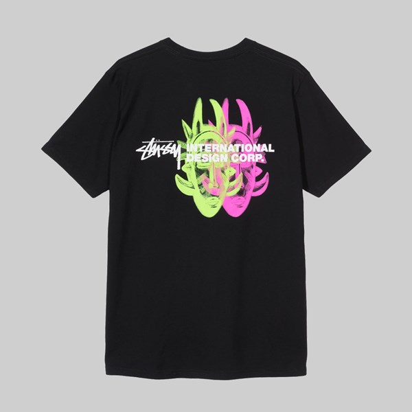 STUSSY DOUBLE MASK SS T-SHIRT BLACK