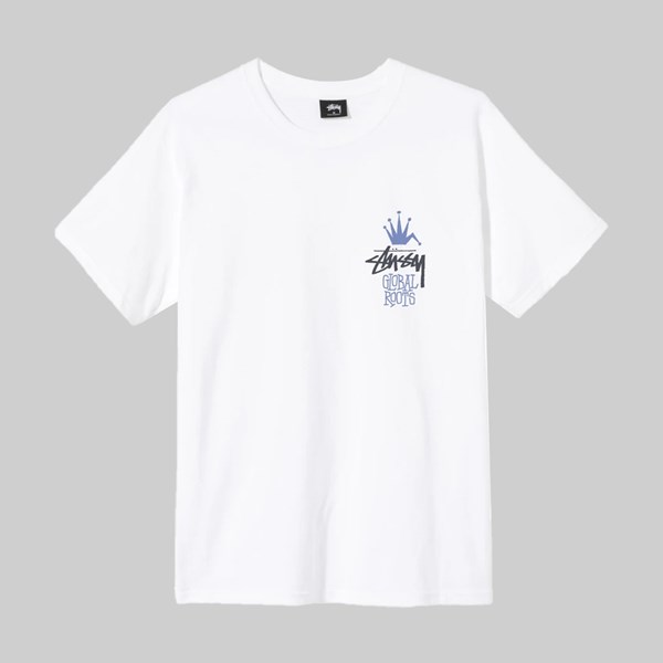 STUSSY GLOBAL ROOTS SS T-SHIRT WHITE