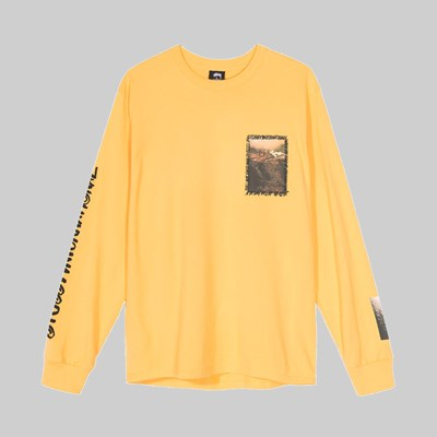 STUSSY GREAT OUTDOORS LONG SLEEVE TEE ORANGE