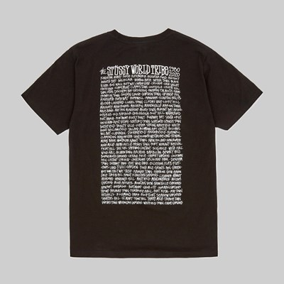 STUSSY JAMAICA WORLD TRIBE SS T-SHIRT BLACK