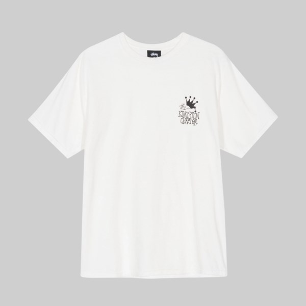 STUSSY KINGSTON CHAPTER PIG DYED SS T-SHIRT NATURAL