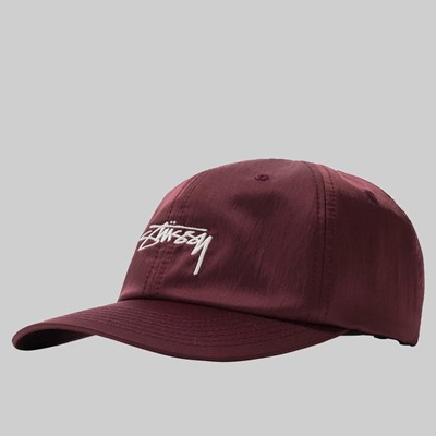STUSSY LINED NYLON LOW PRO CAP BERRY