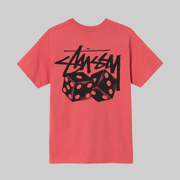 STUSSY PAIR OF DICE SS T-SHIRT RED