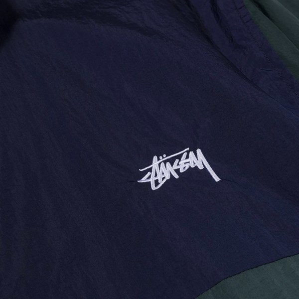 STUSSY PANEL TRACK JACKET NAVY