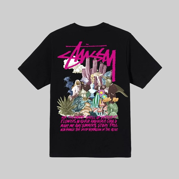 STUSSY PSYCHEDELIC SS T-SHIRT BLACK