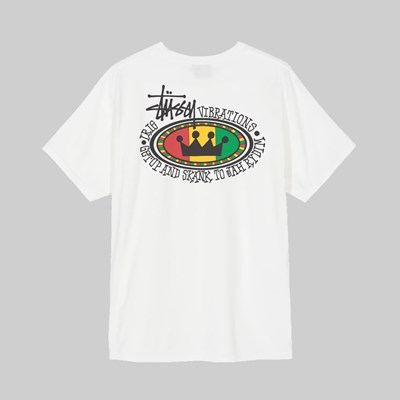 STUSSY RASTA OVAL PIG DYED SS T-SHIRT NATURAL