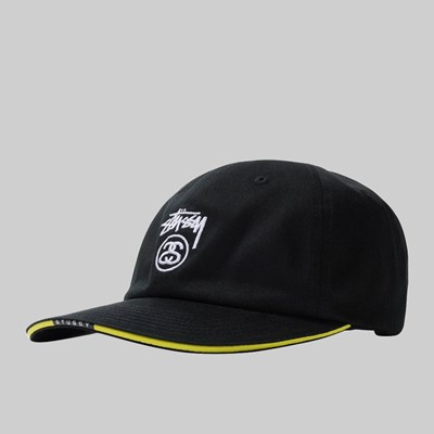 STUSSY SANDWICH VISOR LOW PRO CAP BLACK