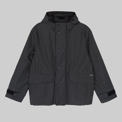 STUSSY SHELL HOODED JACKET BLACK