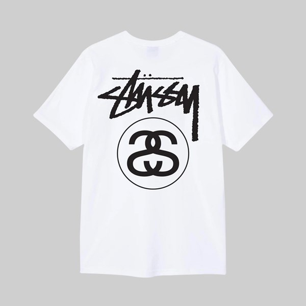 STUSSY STOCK LINK SS T-SHIRT WHITE