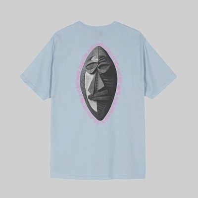 STUSSY TRIBAL MASK SHORT SLEEVE T-SHIRT SLATE