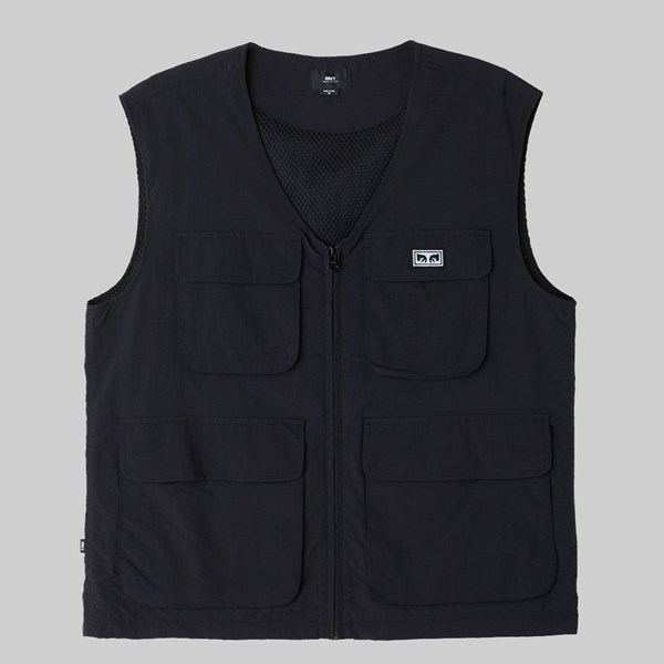 OBEY CEREMONY TECHNICAL VEST JACKET BLACK