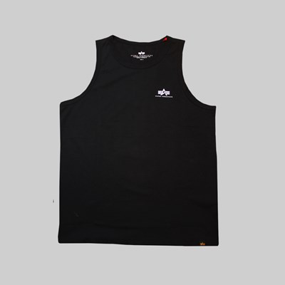 ALPHA INDUSTRIES SMALL LOGO TANK BLACK