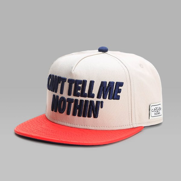 Cayler & Sons Tell Me Nothin' Cap Sand-Red