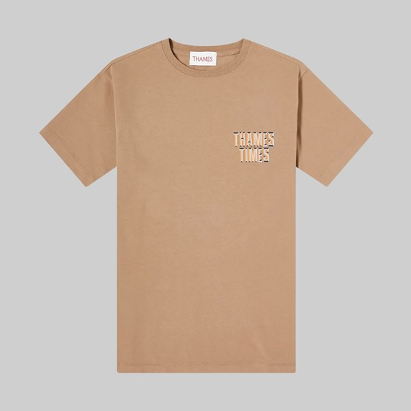 THAMES MMXX TIMES SS T-SHIRT BROWN