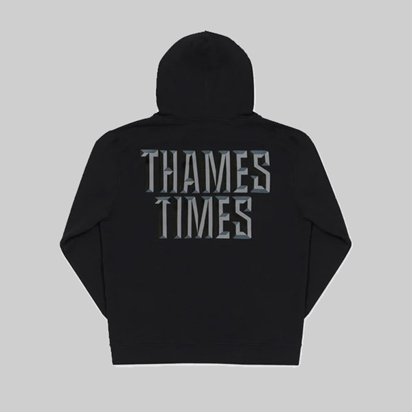 THAMES MMXX TIMES HOODED SWEAT BLACK
