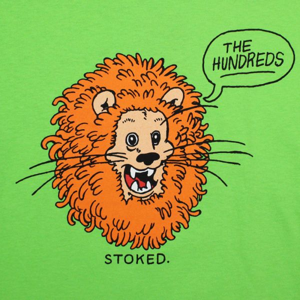 The Hundreds Stoked T Shirt Lime