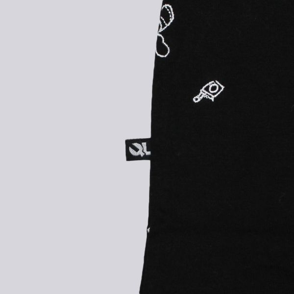 The Quiet Life Heathen Embroidered T Shirt Black