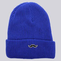 The Quiet Life Moustache Beanie Blue