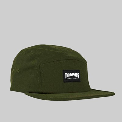 THRASHER 5 PANEL CAP ARMY