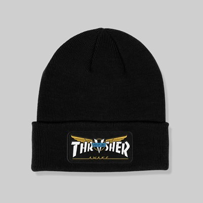 THRASHER VENTURE PATCH BEANIE BLACK