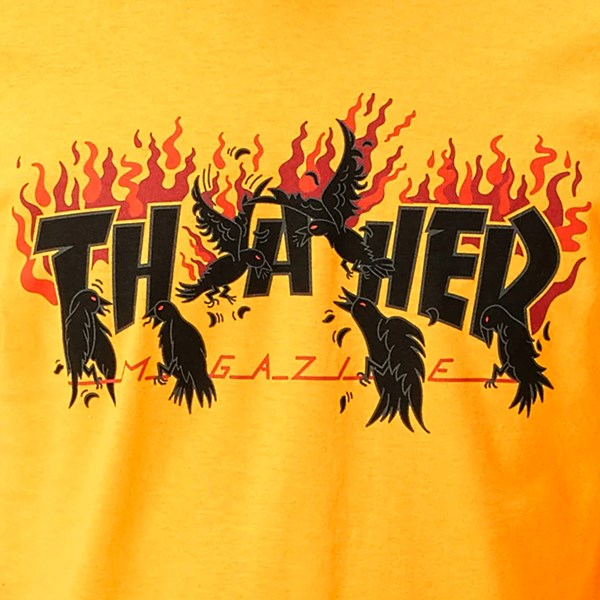 THRASHER CROWS SS T-SHIRT GOLD