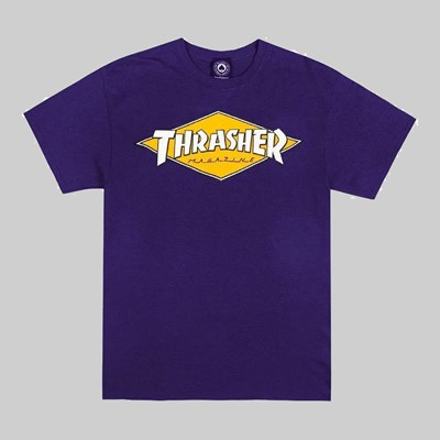 THRASHER DIAMOND LOGO SS T-SHIRT PURPLE