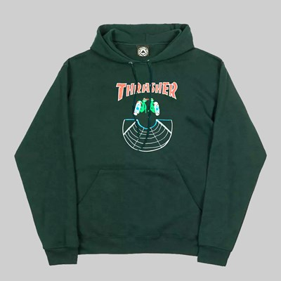 THRASHER DOUBLES HOODY FOREST