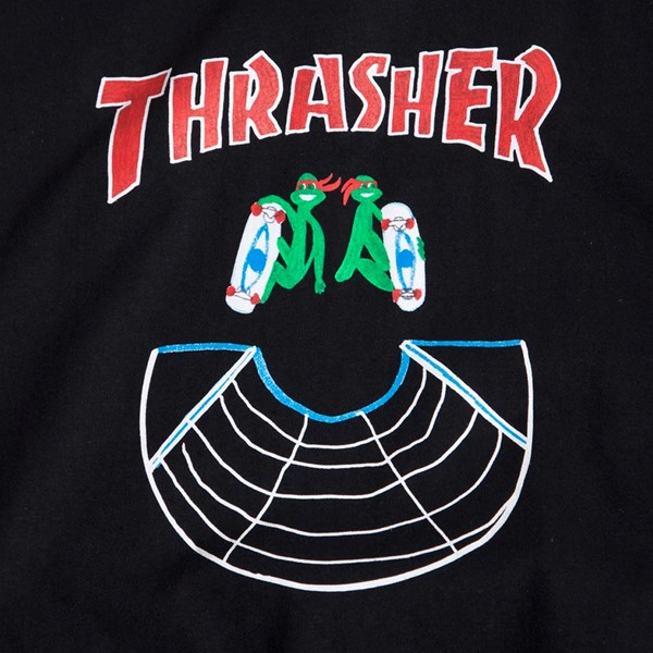 THRASHER DOUBLES LONG SLEEVE T-SHIRT BLACK