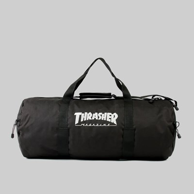 THRASHER MAG LOGO DUFFLE BAG BLACK