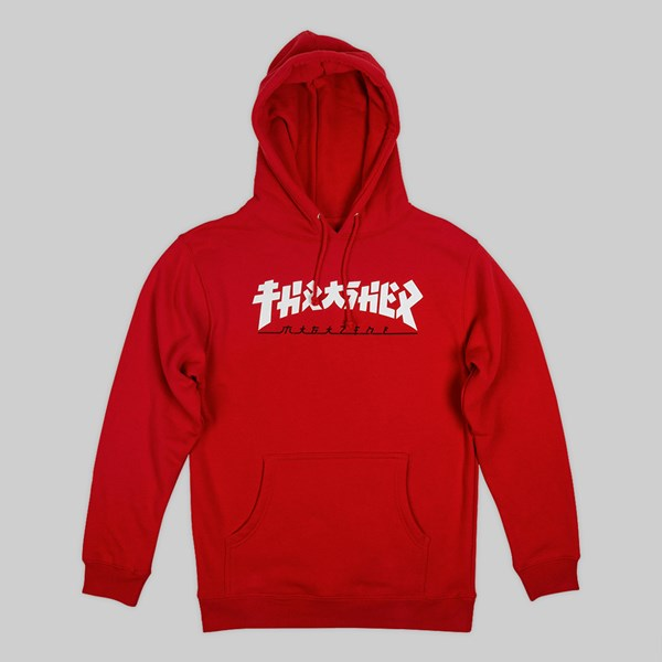 THRASHER 'GODZILLA' HOODED SWEAT RED
