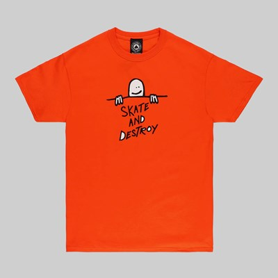 THRASHER GONZ SAD LOGO SS T-SHIRT ORANGE