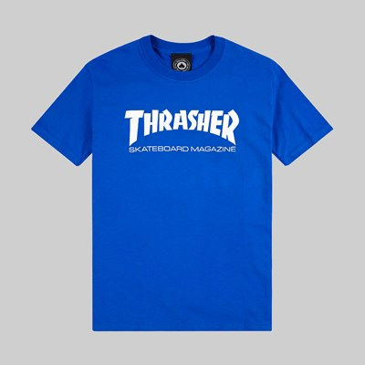 THRASHER SKATE MAG SS T SHIRT ROYAL BLUE