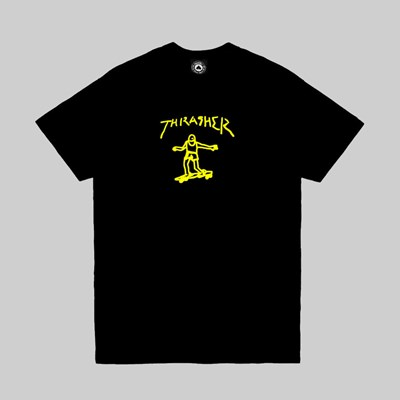 THRASHER GONZ SHORT SLEEVE T-SHIRT BLACK