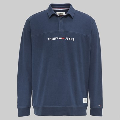 TOMMY JEANS ESSENTIAL RUGBY BLACK IRIS