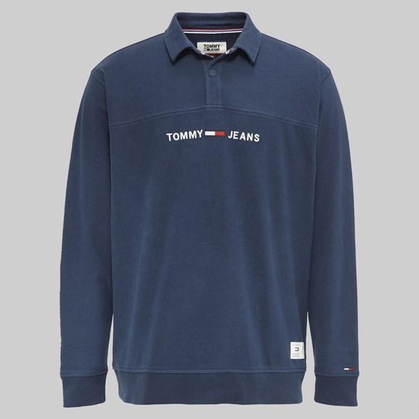 eb51bc1b TOMMY JEANS ESSENTIAL RUGBY BLACK IRIS | TOMMY JEANS ...