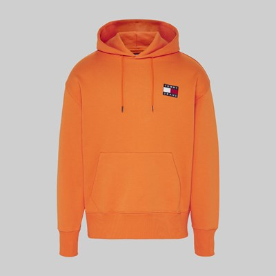 TOMMY JEANS TOMMY BADGE HOOD RUSSET ORANGE