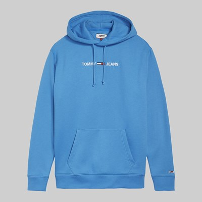 TOMMY JEANS SMALL LOGO HOOD BRILLIANT BLUE