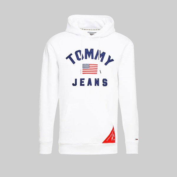 TOMMY JEANS AMERICANA HOODIE CLASSIC WHITE