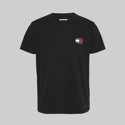 TOMMY JEANS BADGE SS T-SHIRT BLACK