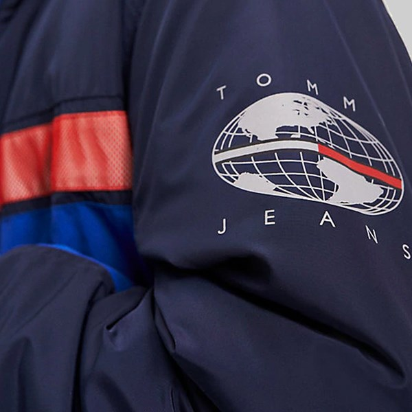 TOMMY JEANS COLOURBLOCK REFLECTIVE JACKET SURF THE WEB