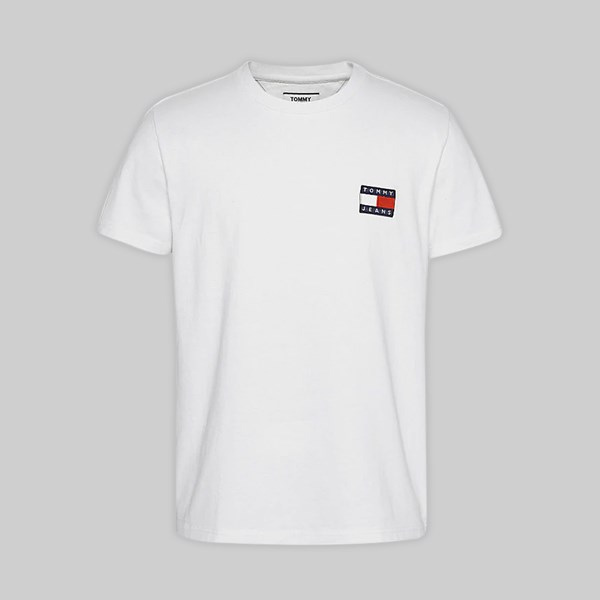 TOMMY JEANS BADGE SS T-SHIRT CLASSIC WHITE