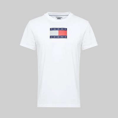TOMMY JEANS METALLIC FLAG SS T-SHIRT WHITE