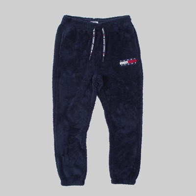 TOMMY JEANS PLUSH FLEECE JOGGER PANT BLACK IRIS