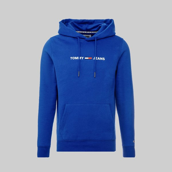 TOMMY JEANS STRAIGHT SMALL LOGO HOODIE SURF THE WEB