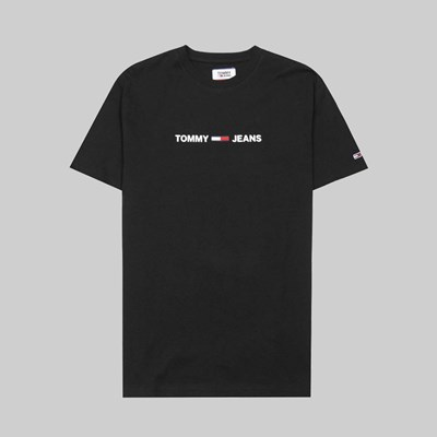 TOMMY JEANS STRAIGHT SMALL LOGO SS T-SHIRT BLACK